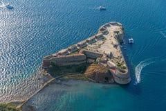 Fästning för Sibenik St. Nicholas arkivfoton