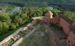 fästning gammala latvia royaltyfria bilder