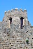 fästning greece medeltida rhodes Arkivfoton