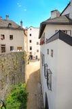 Fästning Hohensalzburg i Salzburg, Österrike. Arkivfoton