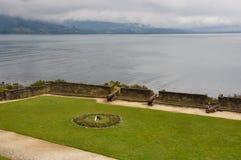 Fästning i Ancud, Chiloe ö, Chile arkivbilder