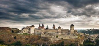 Fästning i kamyanets podilskiy Ukraina Arkivfoton