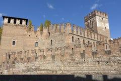 Fästning i nordliga Italien Arkivfoton