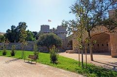 Fästning med en flagga i Catalonia Royaltyfria Foton