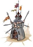 Fästning med försvarare Royaltyfri Bild