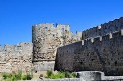 fästning medeltida rhodes Fotografering för Bildbyråer