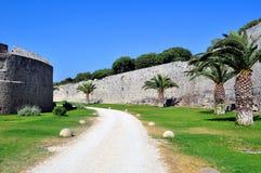 fästning medeltida rhodes Royaltyfri Fotografi