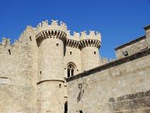 fästning medeltida rhodes Arkivfoton