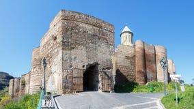 Fästning Narikala, symbolet av Tbilisi Royaltyfri Fotografi