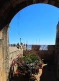 Fästning på kusten av Cascais Arkivfoton