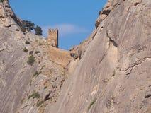 Fästning på panorama för sudakBlack Sea kostnad arkivfoton