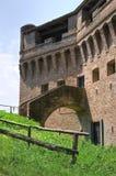 Fästning Rocca Stellata. Bondeno. Emilia-Romagna. Italien. Fotografering för Bildbyråer