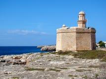 Fästning Sanktt Nicholas, Ciutadella, Menorca Royaltyfria Bilder