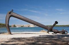 Fästning St Nicholas med ankaret Royaltyfri Fotografi