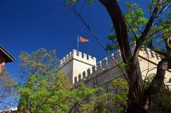 fästning valencia Royaltyfri Fotografi