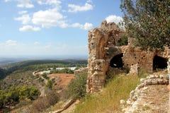 Fästning Yehiam fotografering för bildbyråer