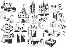 fästningar Arkivbilder