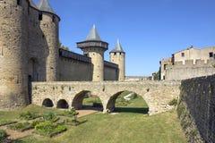 Fästningen av Carcassonne Arkivbild