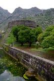Fästningen av Kotor Montenegro Royaltyfri Fotografi