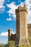 Fästningen av Montalcino 1381 Arkivfoto
