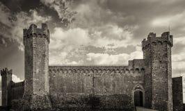 Fästningen av Montalcino 1381, Siena, Tuscany Royaltyfria Foton