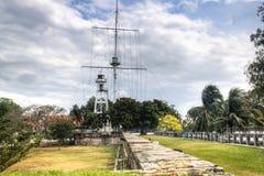 Fästningen av Penang, Malaysia Arkivbilder