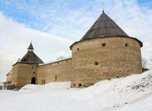 Fästningen av Staraya Ladoga royaltyfri fotografi