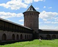 Fästningen av Suzdal Arkivfoto