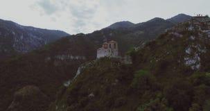 Fästningen för Asen ` s i den Asenovgrad Plovdiv Bulgarien lager videofilmer
