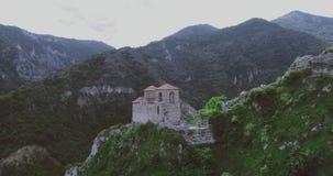 Fästningen för Asen ` s i den Asenovgrad Plovdiv Bulgarien stock video