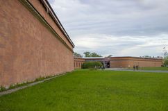 Fästningen i Petersburg arkitektur Arkivfoto