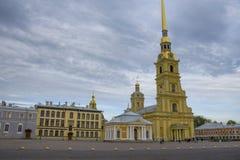 Fästningen i St Petersburg arkitektur Fotografering för Bildbyråer