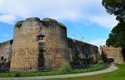 Fästningen inom slotten Arkivfoto