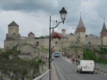 Fästningen Kamenetz Podolsky Arkivfoton