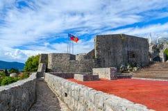 Fästningen Kanli Kula (bloda ner tornet), Herceg Novi, Montenegro Royaltyfri Fotografi