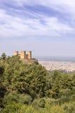 Fästningen namngav Kasbah Ras el-Ain, i Asserdoun, Beni Mellal Arkivbilder