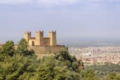 Fästningen namngav Kasbah Ras el-Ain, i Asserdoun, Beni Mellal Arkivfoton