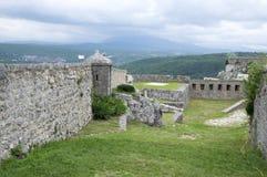 Fästningen, stad Knin, Kroatien Royaltyfria Bilder