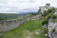Fästningen, stad Knin, Kroatien Royaltyfri Fotografi