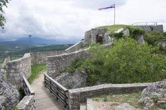 Fästningen, stad Knin, Kroatien Fotografering för Bildbyråer