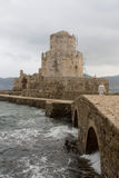fästninggreece methoni Royaltyfria Bilder