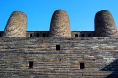 fästninghwaseong suwon för 3 lampglas arkivfoto
