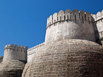 fästningindia kumbhalgarh rajasthan Royaltyfri Bild