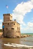 fästningitaly rapallo Arkivbild