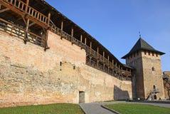 fästninglutsk medeltida ukraine Royaltyfria Bilder