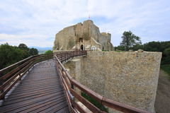 fästningmoldavia neamt romania arkivbild