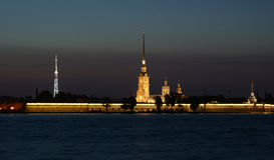 fästningpaul peter petersburg rus st Arkivbilder