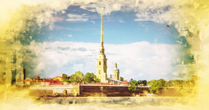fästningpaul peter petersburg saint Ryssland Royaltyfri Fotografi