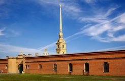 fästningpetropavlovskaya Royaltyfri Bild
