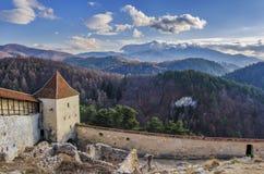 fästningrasnov romania Royaltyfri Fotografi